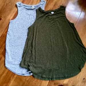 Two Old Navy Luxe Soft Tank Tops M